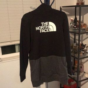 Black and Grey North Face hoodie. Size Medium